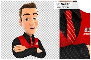 3D Seller with Arms Crossed