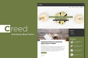Creed. Multilayout Blog Theme