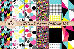 MODERN abstract bright patterns set