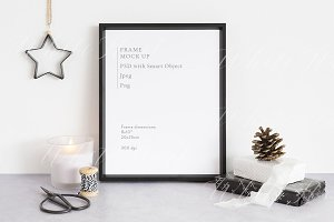 Frame mock up - Xmas - 8x10""