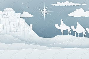 Wise Men Nativity Christmas Concept