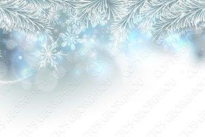 Christmas Tree Snowflakes Background
