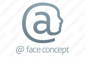 At Symbol Face Concept