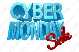 Cyber Monday Sale 3D Sign