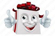 Gift Present Cartoon Character Mascot
