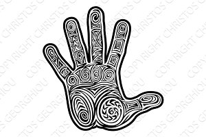 Abstract Hand Pattern Design Concept