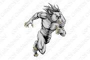 Horse sports mascot running
