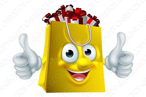 Shopping Bag Cartoon Character