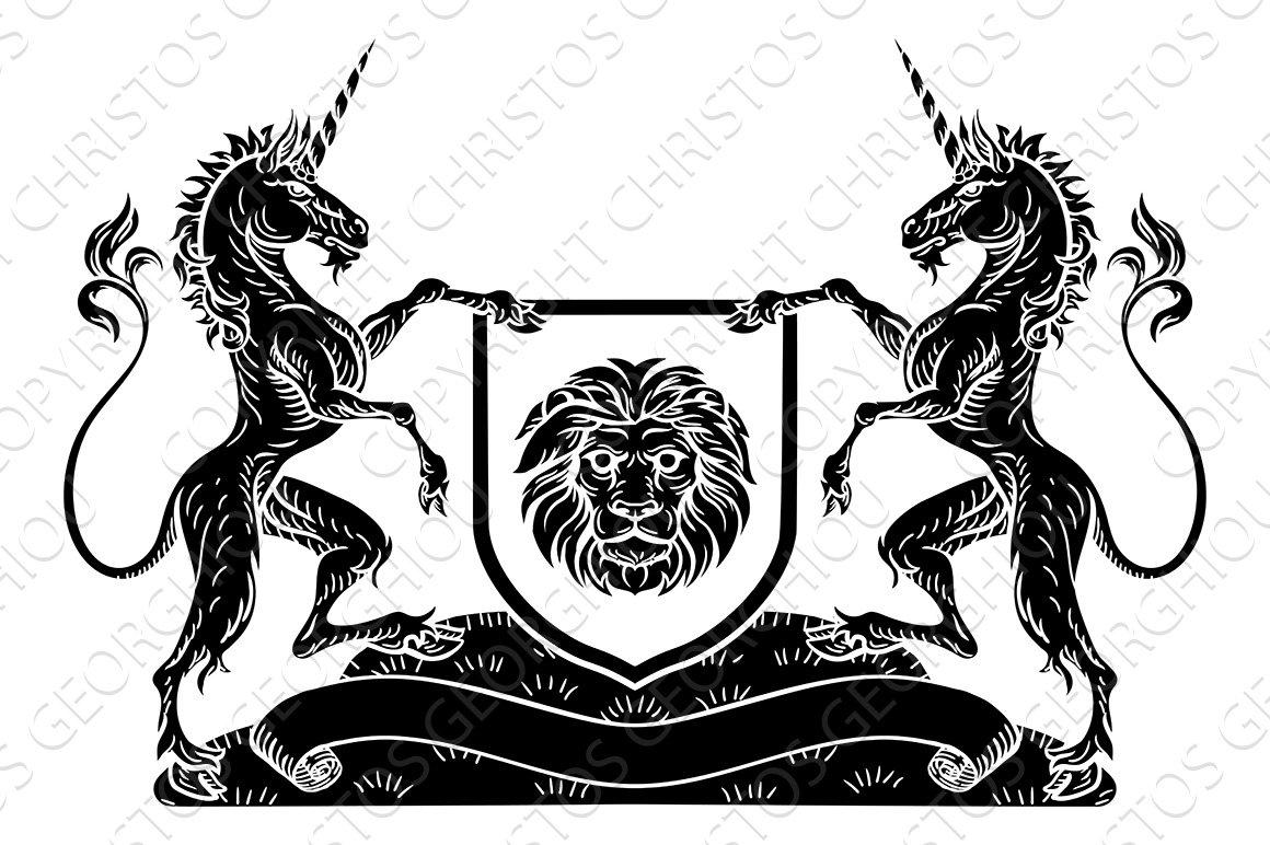 Coat of arms emblem crest unicorn shield heraldic illustrations coat of arms emblem crest unicorn shield heraldic illustrations creative market biocorpaavc Gallery