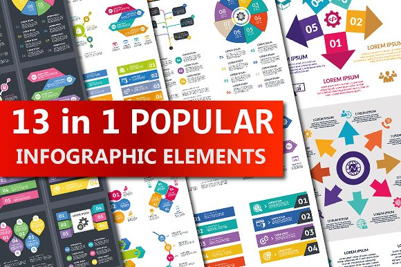 13 In 1 Popular Infographic Elements