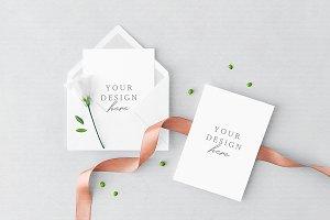 Greeting Card & Envelope Mockup