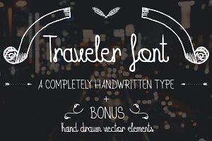 Traveler Font + BONUS pack