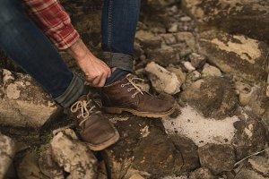 Man wearing sports shoes