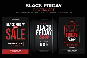 Black Friday Sale Flyer Set
