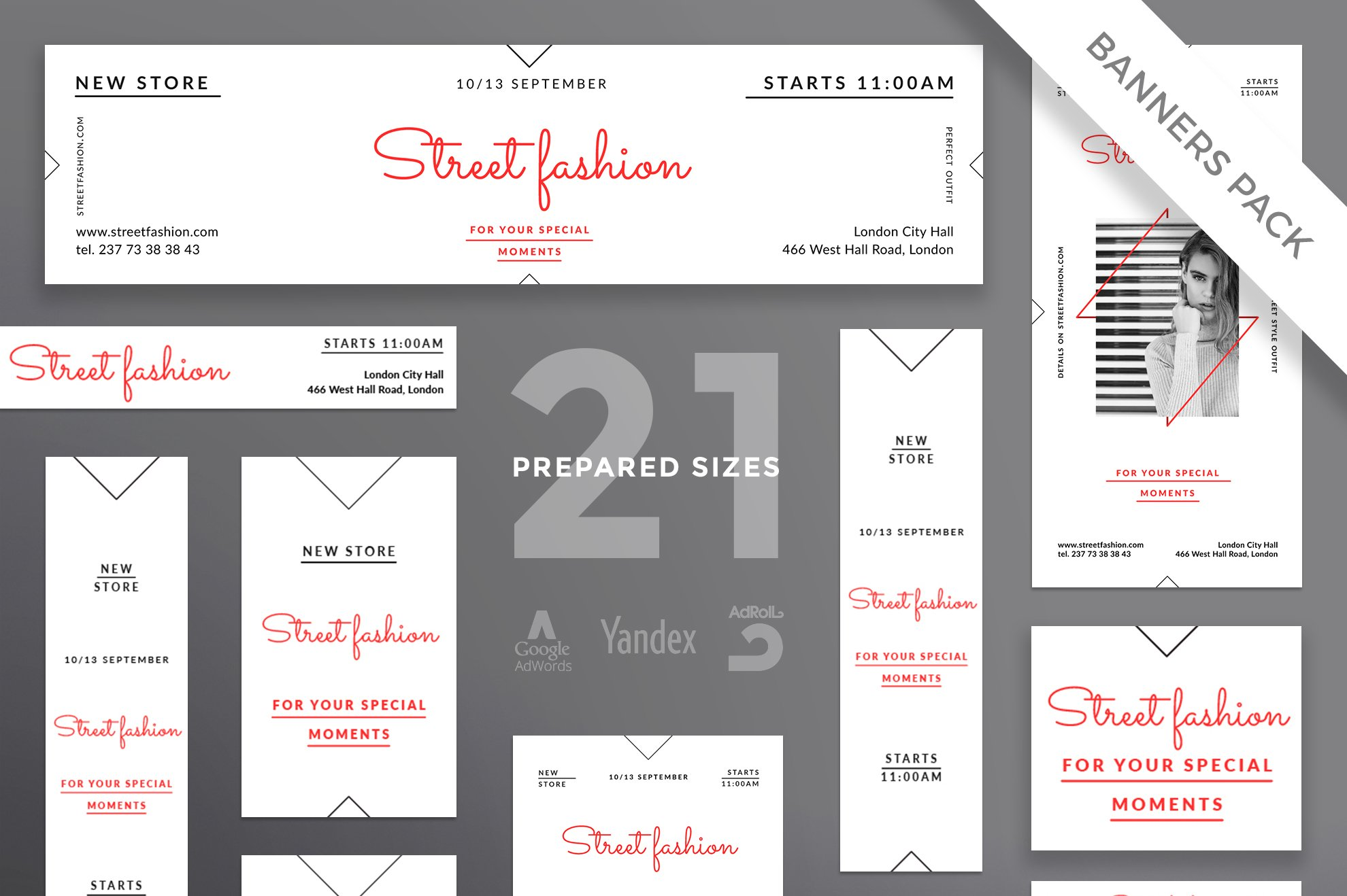 Banners Pack | Street Fashion ~ Templates ~ Creative Market