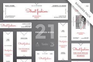 Banners Pack | Street Fashion