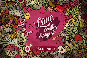 ♥ Love Doodles Design Pack