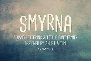 Smyrna Font Family-50%0ff