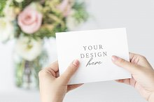 Invitation Card in Hands