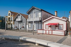Typical fishermen´s houses in Aveiro