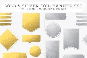 Gold & Silver Foil Banner Set