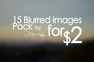 15 High-Res Blurred Images Pack