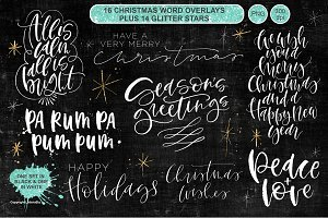Christmas Word Overlay - Vol 4