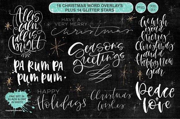 Christmas Word Overlay Vol 4