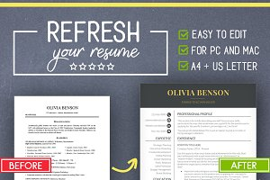 Resume Template for MS Word (Mac/PC)