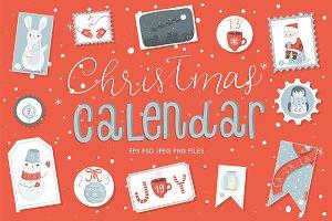 Christmas Advent Calendar Stickers
