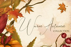 Warm Autumn Clipart Collection