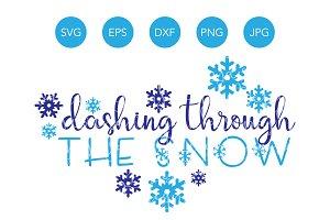 Dashing Through the Snow SVG Winter