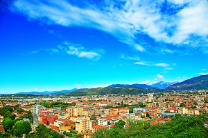 Aereal view of Brescia