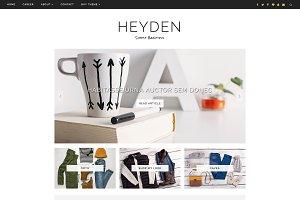 Blogger Template Responsive - Heyden