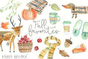 Fall Favorites Watercolor Pack