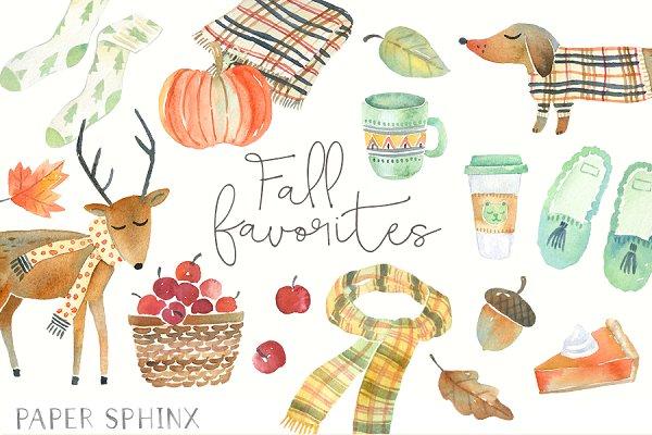 Fall Favorites Watercolor Pack