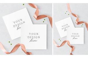 Square Invitation Card Mockup
