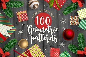 100 Geometric Christmas Patterns