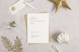 "5x7"" card mock up - Gold Christmas"