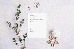 Natural Christmas card mock up