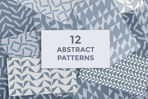 12 abstract patterns set