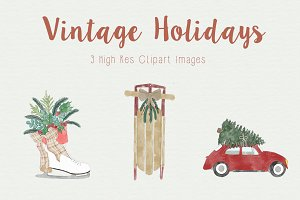 Vintage Holiday Clipart