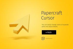 Papercraft cursor