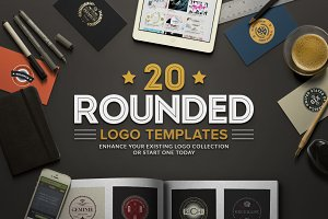 20 Rounded Logos Badges