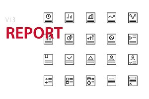 60 Report UI icons