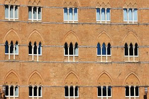 Windows in Siena, Italy