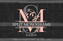 split monogram