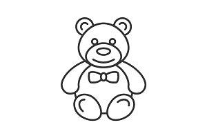 Teddy bear linear icon