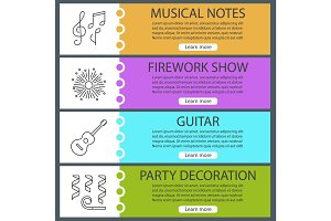 Holiday accessories web banner templates set