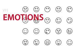 100 Emotions UI icons